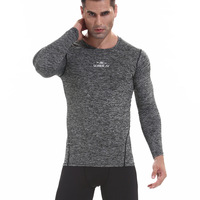 Mens Sport Running Set Compression T Shirt + Pants Skin Tight Long Sleeves Fitness Rashguard MMA Training Clothes Gym Yoga Suits