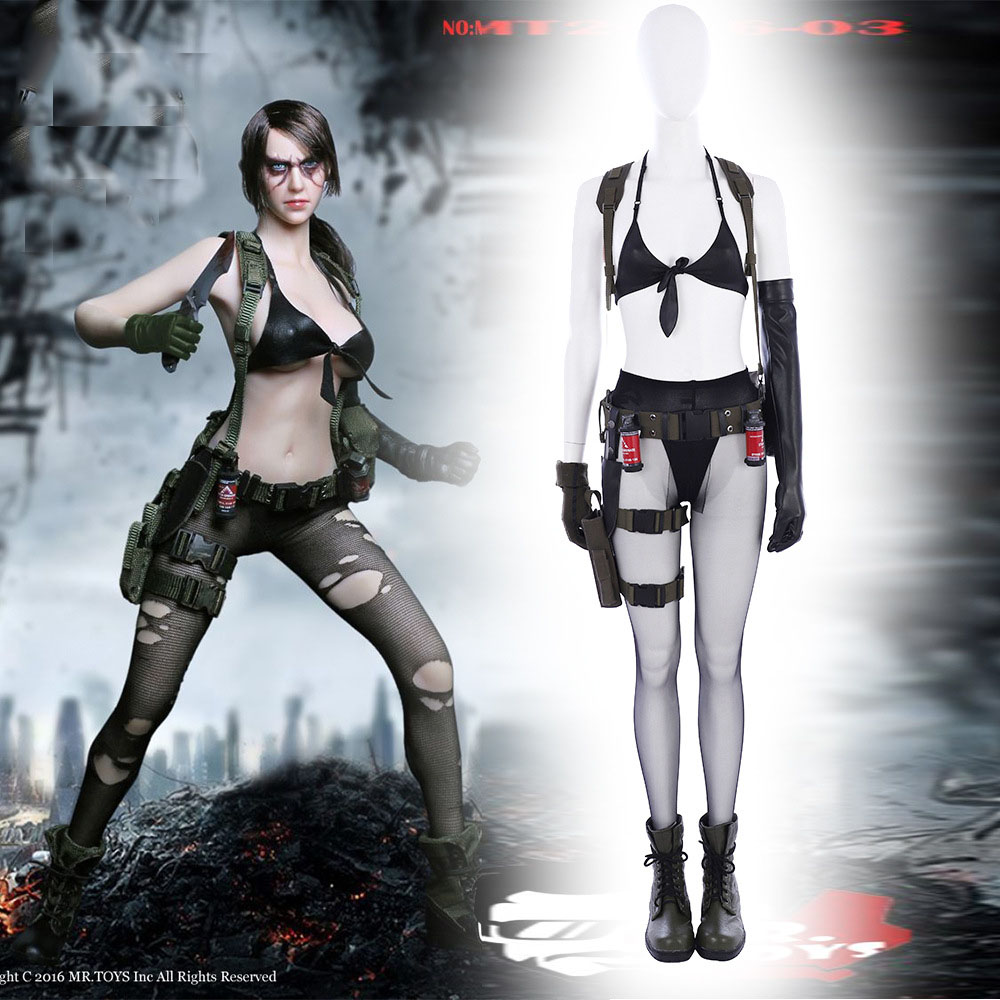 Halloween game Metal Gear Solid 5 cosplay Quiet cosplay Costume Sexy bikini style custom made size set High Quality