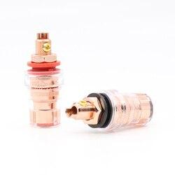 4 pçs de alta qualidade CMC-858-S-CU-R cobre puro 99.998% mensagens de ligação terminal de alto-falante de áudio