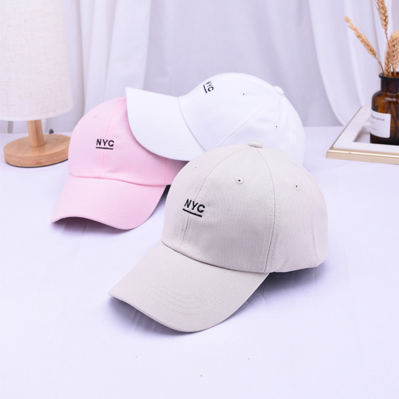 Korean fashion NYC letter embroidered baseball hat summer men and women outdoor sports visor cap couple
