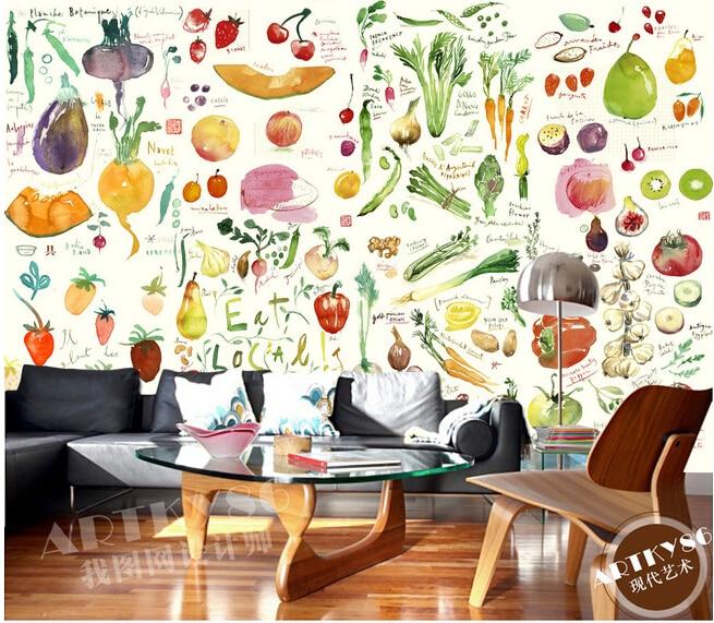 Papel personalizado de pared infantil grandes murales de - Papel pared cocina ...