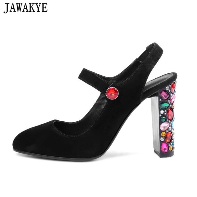 Bout black De Cristal Slingback Pink Mariage En Nouvelle Hauts Pompes Chaussures Sandales Femmes Rond D'été Coloré Strass Talons Piste wOqTUXvX