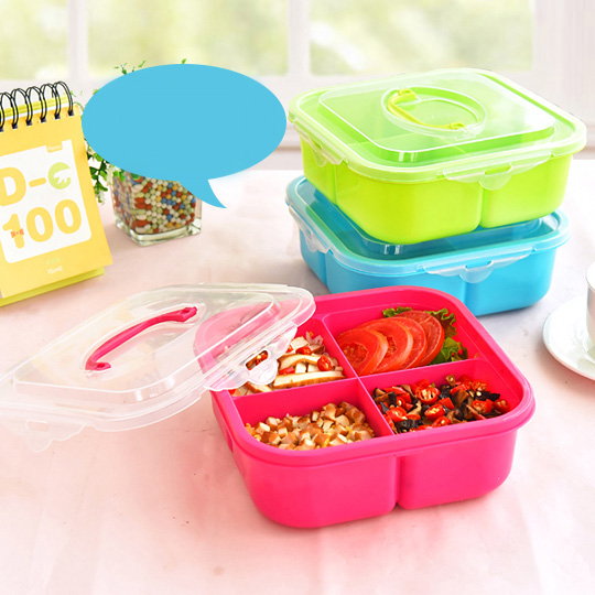 Portable Microwave Cute Cartoon Lunch Box Food Container Box Bento Meal Box