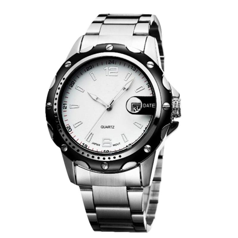 1PC Luxury Retro Strip Simple Men Quartz Watch Waterproof Business Mens Big Dial Calendar relogio masculino Dropshipping NMB25