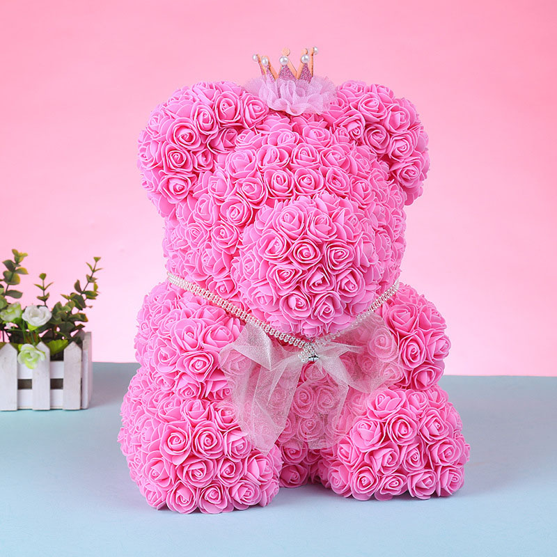 foam rose bear flower (28)