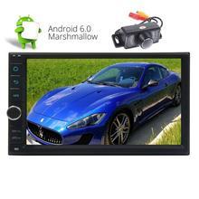 Стерео два 2 DIN в тире Android 6.0 GPS навигации стерео Авто Радио 7 дюймов Multi-Сенсорный экран Bluetooth 4.0 Штатная Wi-Fi