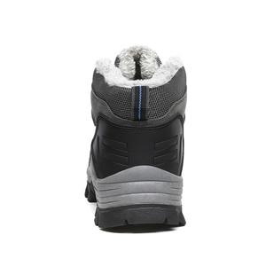 Image 4 - סופר חם גברים חורף מגפי זמש עור שלג מגפי פרווה בפלאש חורף שלג נעלי גברים תחרה עד חיצונית נעליים בתוספת גודל