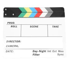 Generic Acrylic Colorful Clapperboard TV Film Movie Slate Cut Role Play Prop Hollywood