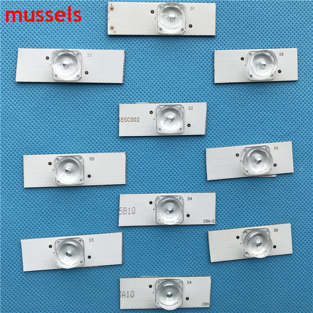 """32"""" 65"""" inch TV Led Strips 3v Bulbs Diodes Optical Concave Lens Fliter Backlight w/ cable Double side Tape 10pcs/pack 2 bags/lot"""