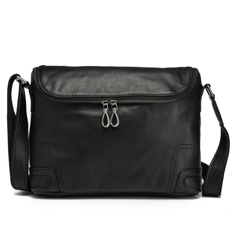 Men's Shoulder Bag Genuine Leather Korean Business Briefcase Casual Messenger Men Handbag Travel Tote for Teenagers Boys Satchel
