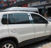 Подходит для Volkswagen Tiguan 2009 2010 2011 2012 оконной рамы отделка объемного Литье Газа аксессуары Нержавеющаясталь стайлинга автомобилей