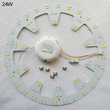 New arrival 120V 220V 230V 240V DOUBLE COLOR warm white&cold white 18W 24W surfaced mounted led ceiling lights DIY install round