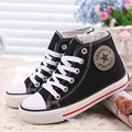 2017 New Classic Children Canvas Shoes Boys Girls Flat Sneakers Spring Fashion Child Denim Shoes Kids Lace Up Casual Shoes 25-37