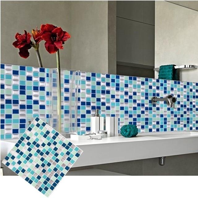 Self Adhesive Mosaic Tile Wall decal Sticker DIY Kitchen Bathroom Home Decor  Vinyl W1
