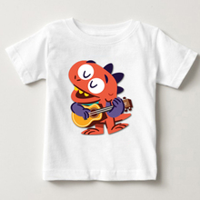 2018 New summer children tees boys 3t-8t dinosaur t-shirts classic animal tops for child Wacky Dinosaurs T shirt  MJ