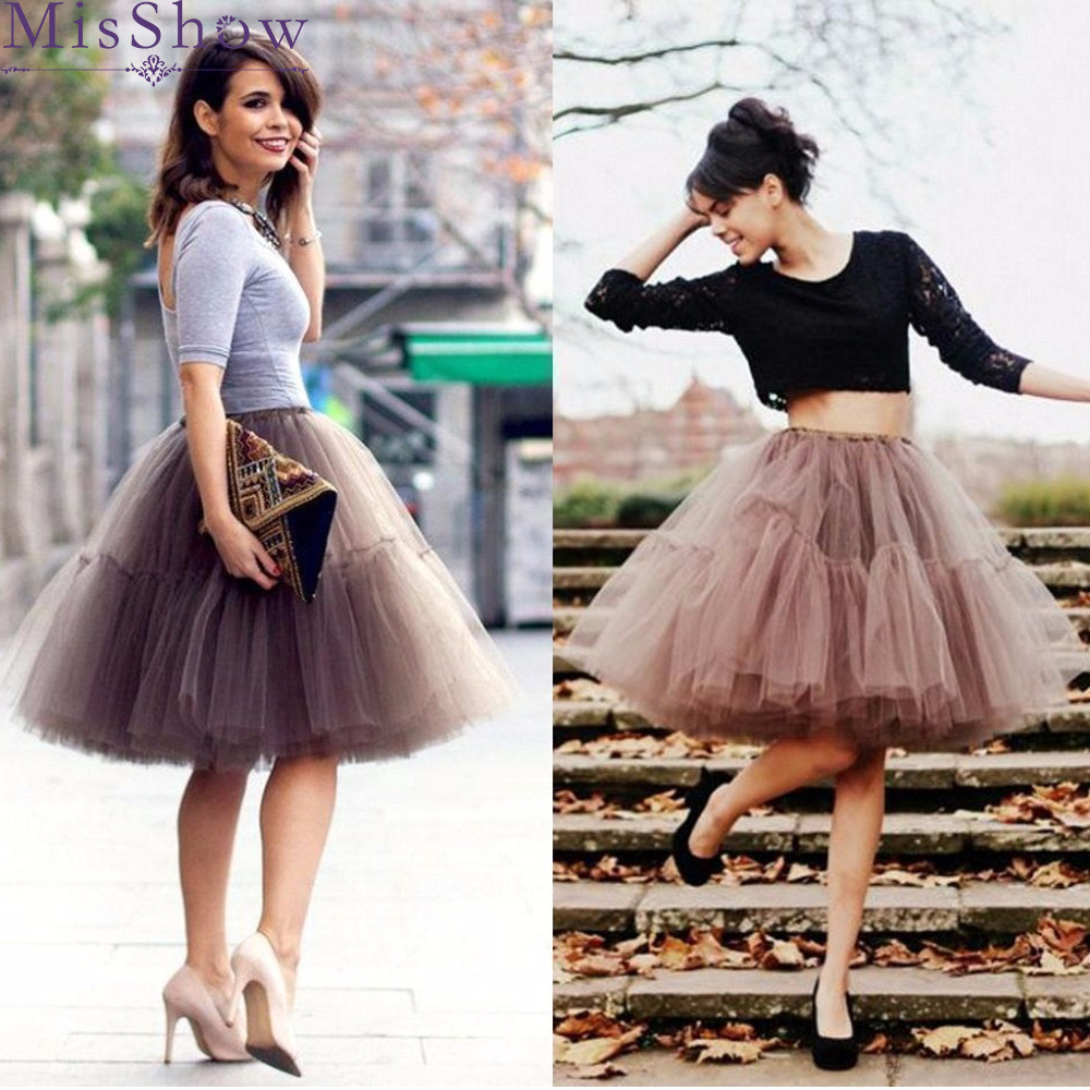 2727e8ff9 2019 enaguas cortas de línea a coloridas Falda corta enaguas 6 capas de tul  nupcial para vestido de ...
