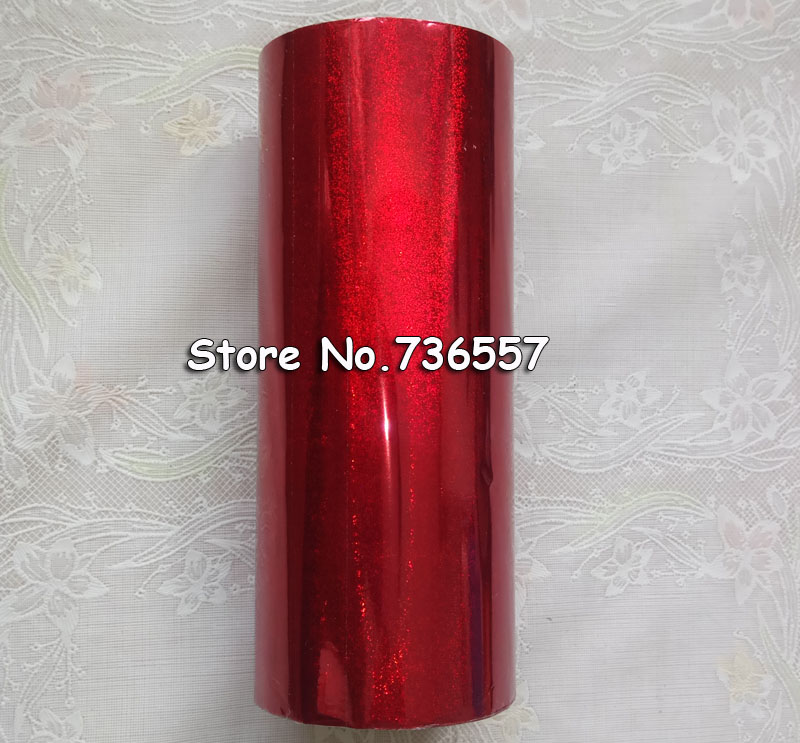 Hot stamping foil Holographic foil hot stamping on paper or plastic 16cm x 120m red sand color