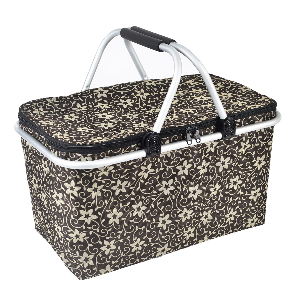 46 x 28 x 24 CM Folding Picnic Camping Insulated Cooler Cool Hamper Storage Basket Bag Box outdoor picnic bags in 5 Colors