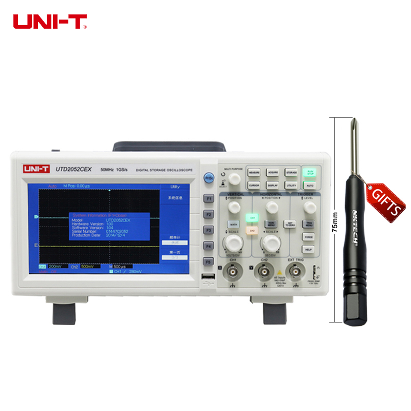 U022 UNI-T UTD2052CEX digital storage oscilloscope 2 channels 50MHz 1Gs/s бра mw light олимп 318020801