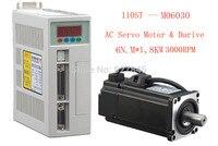 New Servo system kit 6N.M 1.8KW 3000RPM 110ST AC Servo Motor Matched Servo Driver