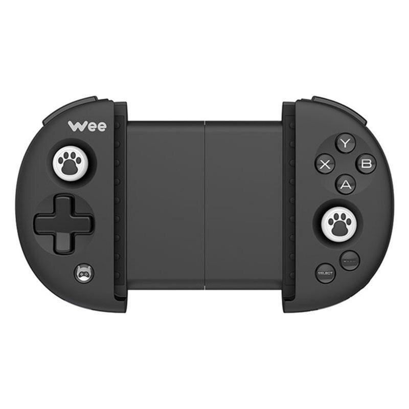 Contrôleur de poignée extensible sans fil de jeu de manette de Bluetooth sans vibration pour 3.5-6.3