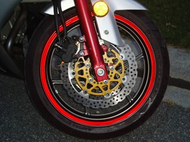 Red Rim Stripe Wheel Vinyl Decal For Harley Honda Yamaha Kawasaki - Vinyl stripes for motorcycles