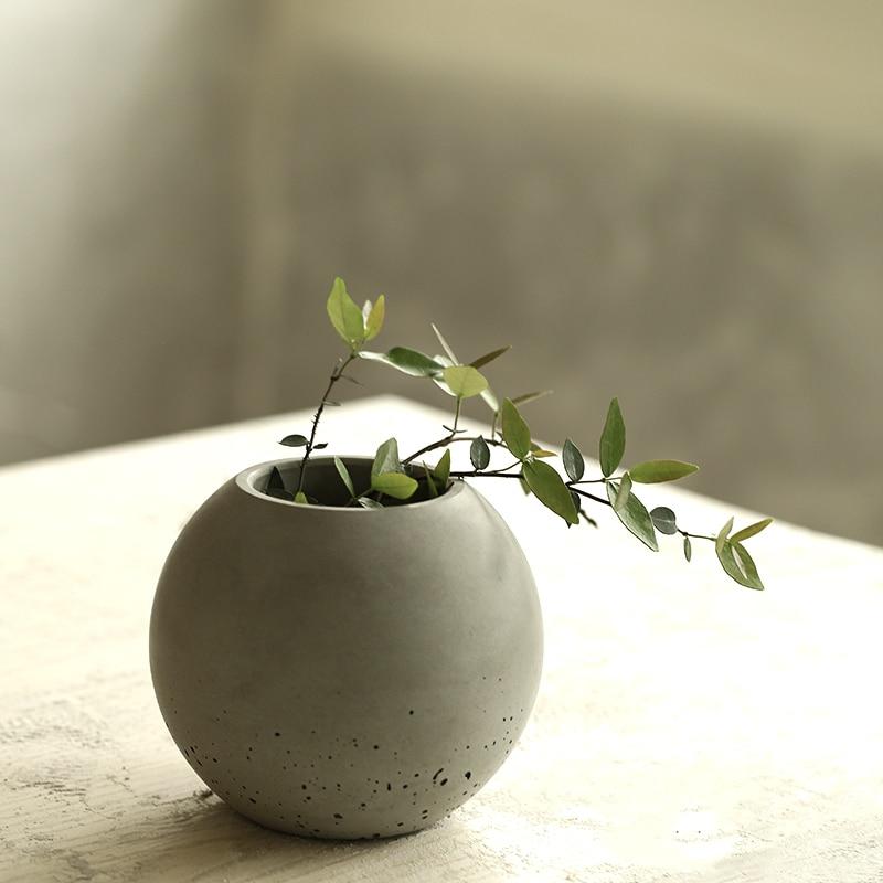 silicone mold Concrete vase cement pots home decoration Ball shape new arrival