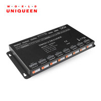 3 Power supply in 24CH DMX512 signal output multi channel LED contant voltage light driver, DMX512/1990 24CH power decoder