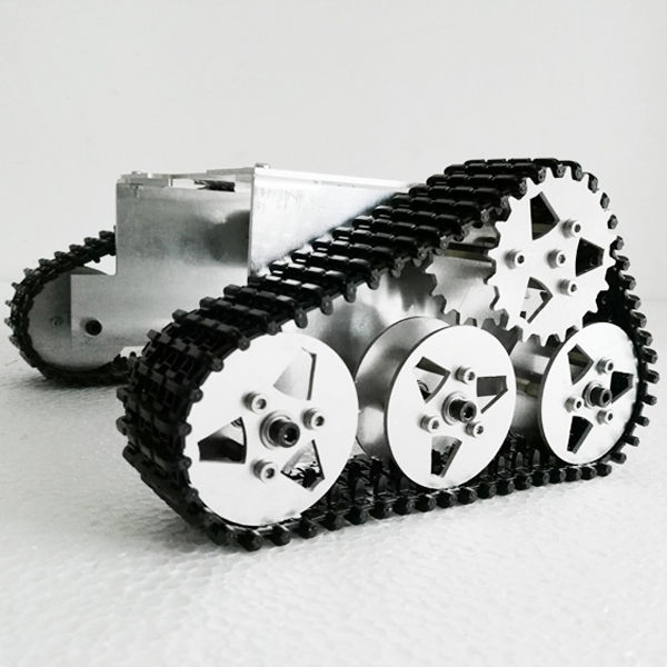 Aluminum Alloy Robot Tank WALL E Style Chassis For Arduino Education Program