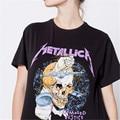 Рок Панк С Коротким Рукавом футболка Мужчины ВИНТАЖ Metallica Моды стиль Черный Специальные Печатные футболка Homme Случайные Свободные Тройники XXXL