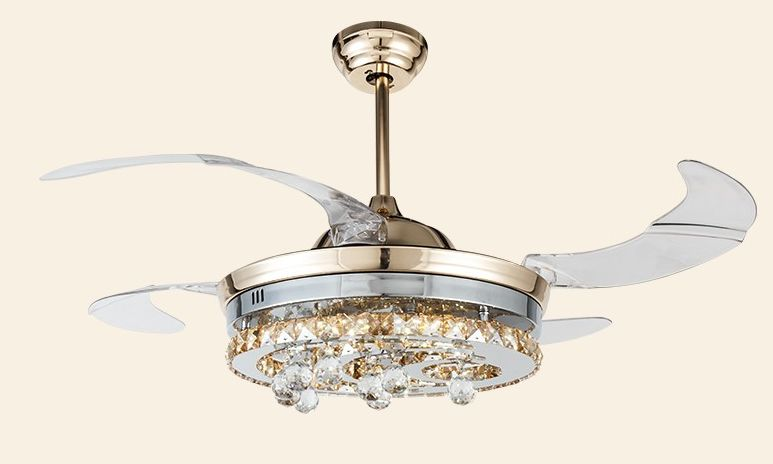 Led ceiling fan lights crystal ceiling fan lights fan for Modern living room ceiling fan