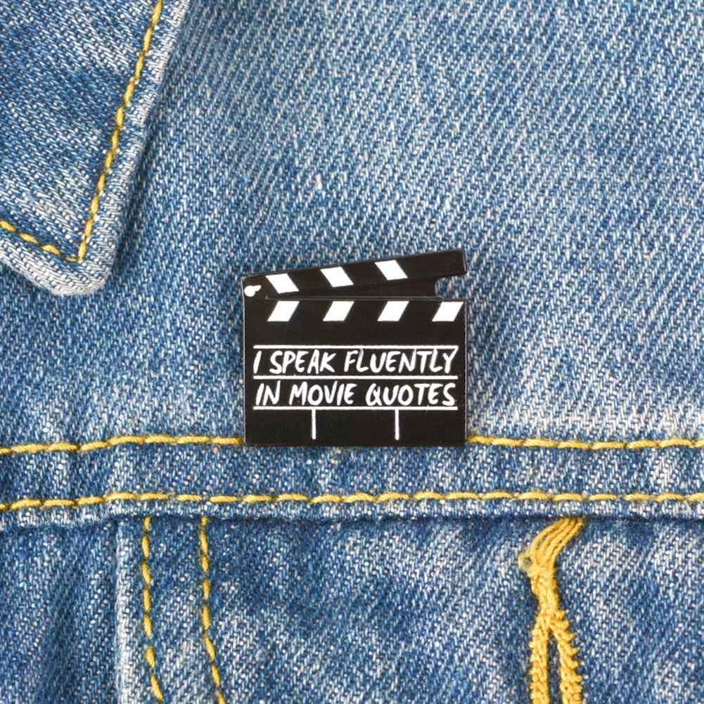 Creativo Film Assicella Smalto Spille Donne Degli Uomini Spilla Spilli Unisex Giacca di Jeans Collare di Stoffa Distintivo Forniture di Gioielli