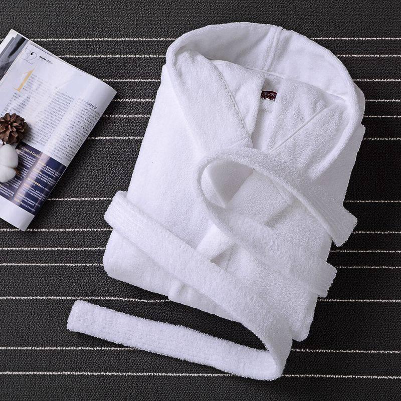 Bathrobe Men Male Hooded Plus Size XXL Thick Warm Winter Dressing Gown Men's Long Robe Mens Wedding Bridesmaid Robe White