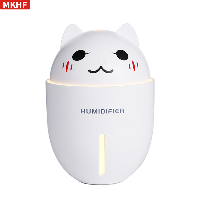 Usb Humidifier Mini Cute Cat Portable Home Silent Car Three-in-one Fan Air Hydrating Spray lovely usb humidifier whale floating mini spray touch switch segmented time small and portable mute spray can be put in the cup