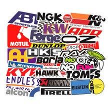 103PCS Racing Car Stickers Styling JDM Waterproof Sticker to DIY Motocross Helmet Skateboard Bicycle Laptop Luggage