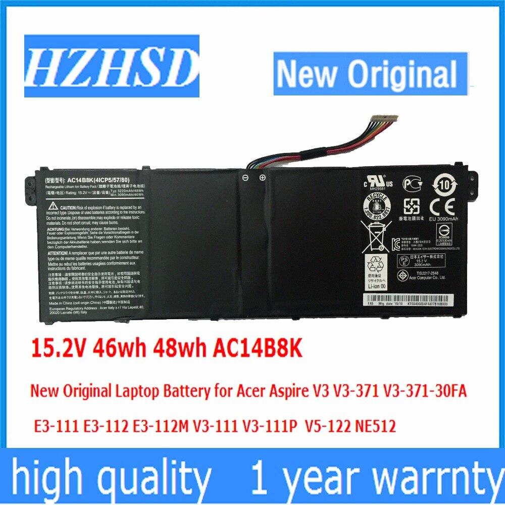 15.2 V 46wh 48wh AC14B8K Nouvelle Batterie D'ordinateur Portable D'origine pour Acer Aspire V3 V3-371 V3-371-30FA AC14B8K