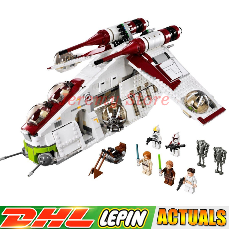 LP 05041 Star Genuine Wars Series The Republic Gunship Set Self-Locking Building Blocks Brick toys Compatible legoings 75021 2017 hot compatible legoinglys star wars series brick republic gunship with soldiers figures building blocks toys for children
