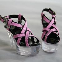 [wamami] 52# Pink&Black 1/3 SD BJD Dollfie High Heels Synthetic Leather Shoes 7.5cm