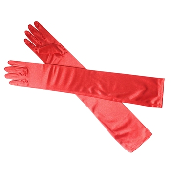 Long Finger Elbow Sun Protection Gloves Opera Evening Party Prom Costume Fashion Gloves Black Red White Grey Women