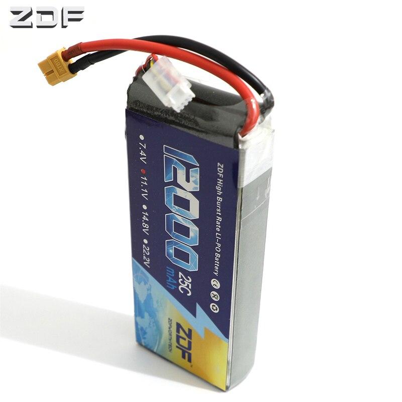 ZDF lipo batterie 11.1 V 12000 mAh 25C 50C RC Lipo 3 S batterie pour RC hélicoptère Drone AKKU avion FPV voiture bateau Lipoly Bateria