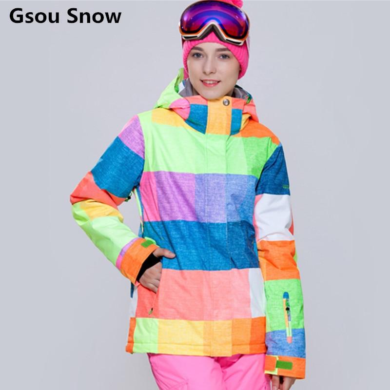 invierno de la chaqueta de snowboard chaqueta de esquí gsou snow women ropa de