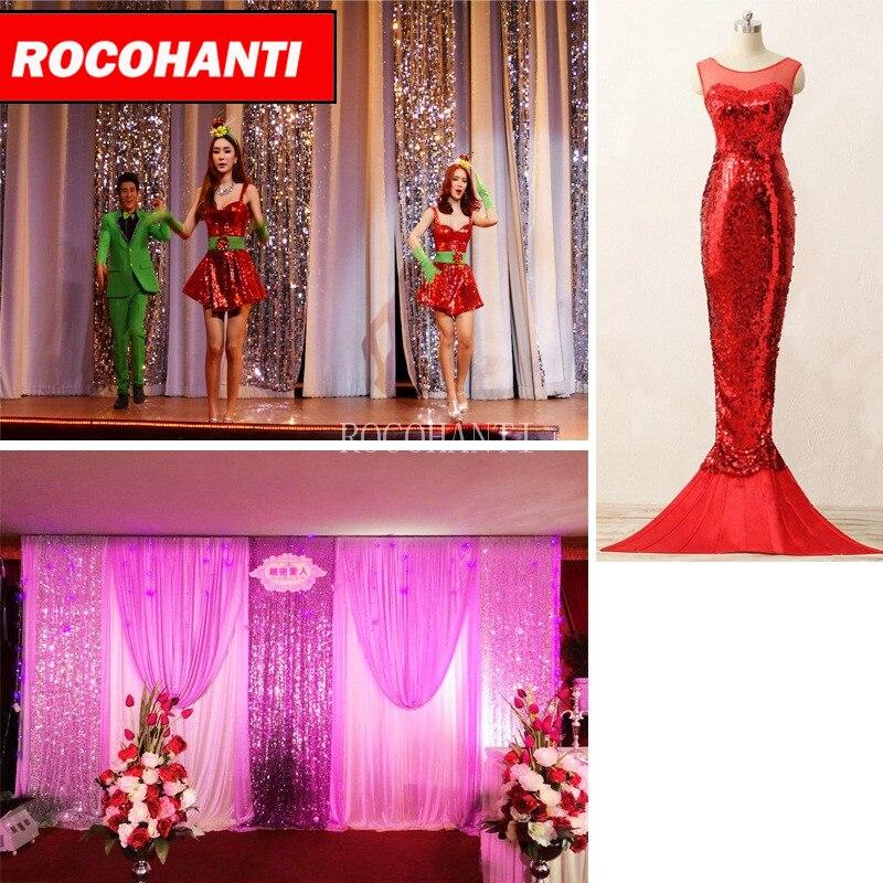 Bling Lentejuelas Telas boda Decoración tela Glitter vestido de ...