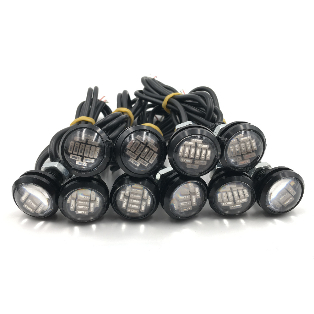 CYAN SOIL BAY 10pcs 4014 12SMD 23mm 15W Eagle Eye Light Red Lamps LED Bulb Fog Signal Turn Lights 12V