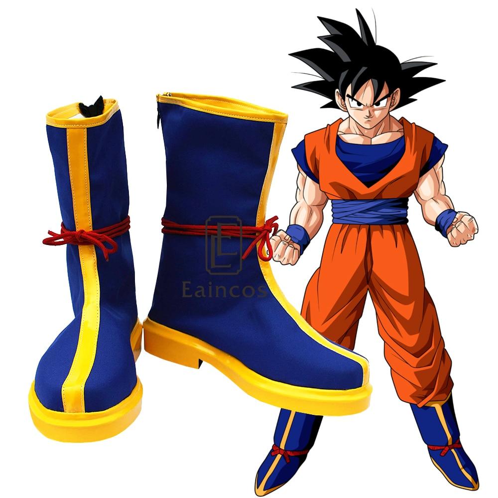 Anime Dragon Ball Z Son Goku Cosplay Shoes Halloween Carvial Boots Custom Made