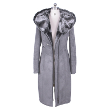 Factory direct supply faux fur coat Women's coat clothing long Slim Hooded Keep warm winter Suede Plush jacket Large size XS-8XL