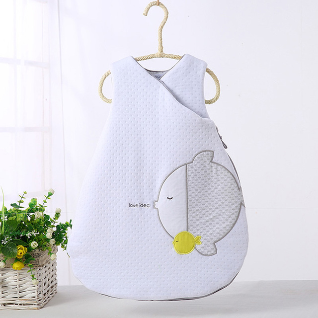 Baby schlafsack lange zipper infant baby sack baby winter schlafsack kinder kleidung pyjamas neugeborenen cartoon schlafsack