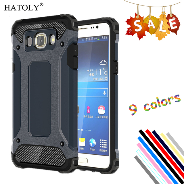 best service 76142 4a719 US $2.68 37% OFF|sFor Cover Samsung Galaxy J7 2016 Case Rubber Armor Hard  Phone Case For Samsung Galaxy J7 2016 Cover For Samsung J7 2016 J710F <-in  ...