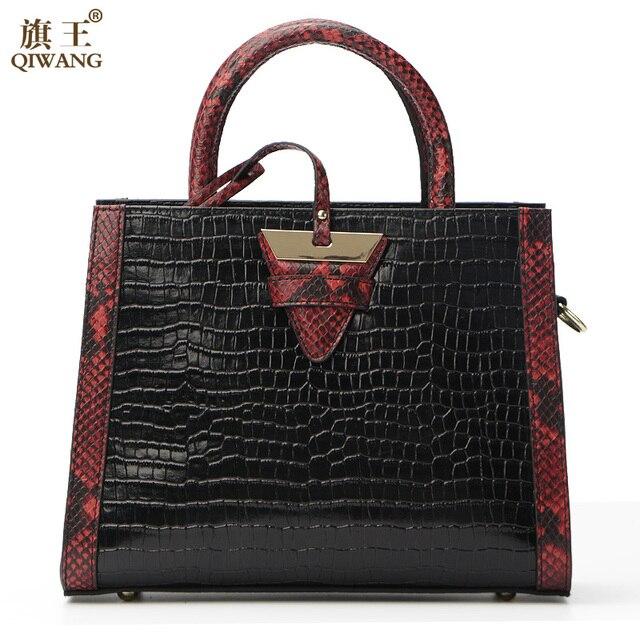 Sac à main motif crocodile motif crocodile cinq ensembles de mère et fille mode sac sac à bandoulière sac Messenger dames, bleu