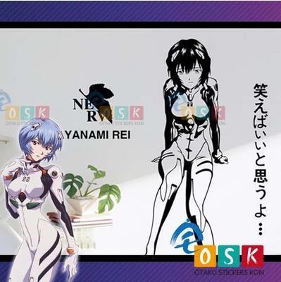 Pegatina Аниме Евангелион Ayanami Rei Виниловые наклейки стены Наклейка Декор дома декоративные мультфильм