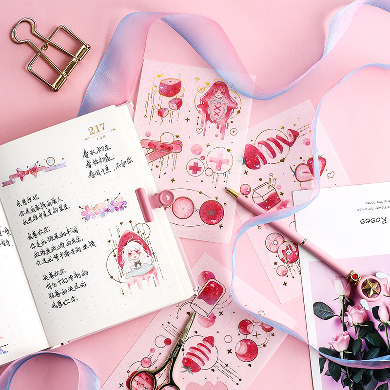 Dream Seeking Star Bullet Journal Decorative Stationery Stickers Scrapbooking DIY Diary Album Stick Lable Japanese Stationary